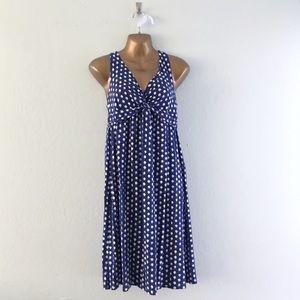 Dresses & Skirts - Blue with white polka dot knit dress